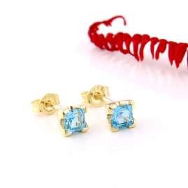 Acalee 70-1016-02 Ohrringe Gold 333 / 8K Ohrstecker Topas Swiss Blau