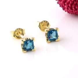 Acalee 70-1016-03 Ohrringe Gold 333 / 8K Ohrstecker Topas London Blau