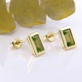 Acalee 70-1026-04 Ladies' Stud Earrings Gold 333 / 8K with Peridot