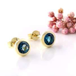 Acalee 70-1019-03 Ohrringe Gold 333 / 8K mit Topas London Blau