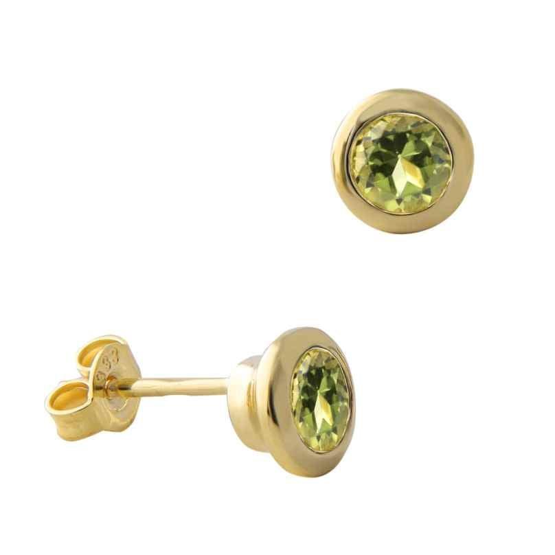 Acalee 70-1019-04 Damen-Ohrstecker Ohrringe Gold 333 / 8K mit Peridot 4260727514389
