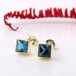 Acalee 70-1025-03 Damen-Ohrringe Gold 333 / 8K mit Topas London Blau