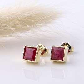 Acalee 70-1025-07 Damen-Ohrringe Gold 333 / 8K mit Rubin