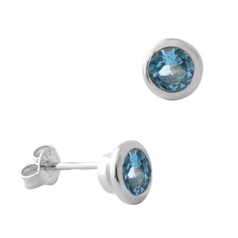Acalee 70-1022-02 Women's Earrings White Gold 333 / 8K with Topaz Swiss Blue 4260727514495
