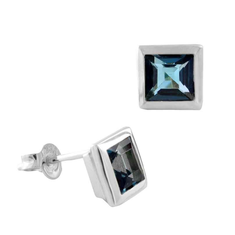 Acalee 70-1021-03 Ohrringe Weißgold 333 / 8K mit Topas London Blau 4260727514471