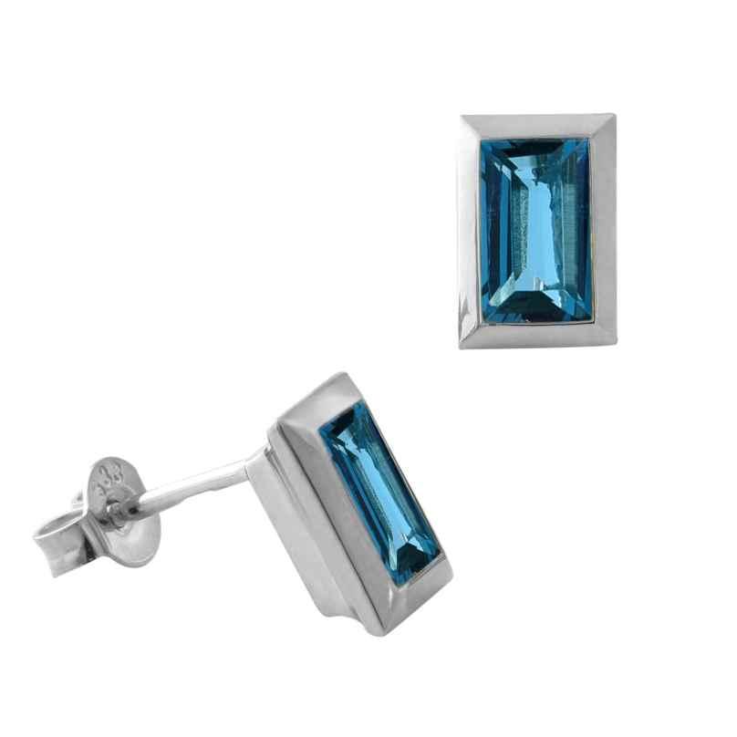 Acalee 70-1023-03 Ohrringe Weißgold 333 / 8K mit Topas London Blau 4260727514525