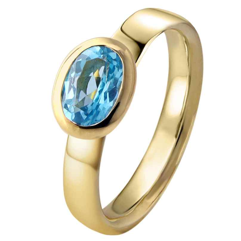 Acalee 90-1016-02 Damenring Gold 333 / 8K Topas Swiss Blau