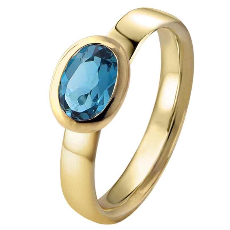 Acalee 90-1016-03 Damenring Gold 333 / 8K Topas London Blau