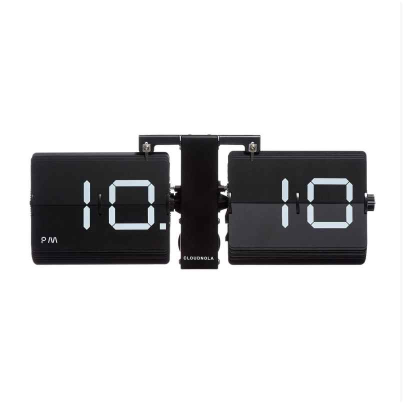 Cloudnola SKU0040 Table and Wall Clock Flipping Out Black 8719324219334