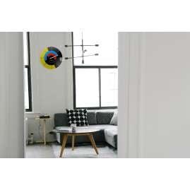 Dreizeit BH1W Wall Clock Bauhaus No. 1 with White Hand