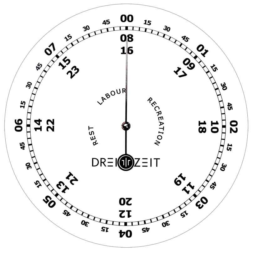 Dreizeit OFI1 Wanduhr Office No.1 4260734360122