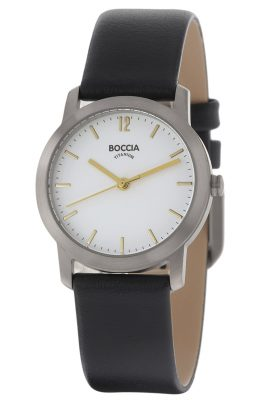 Boccia 3291-02 Titan-Damenarmbanduhr mit Lederarmband