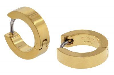 Boccia 0510-13 Titan Damen-Ohrringe Creolen gold