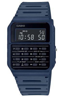Casio CA-53WF-2BEF Vintage Edgy Digitaluhr mit Taschenrechner Blau