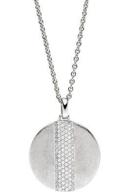 Viventy 782842 Damen-Halskette mit rundem Anhänger Silber