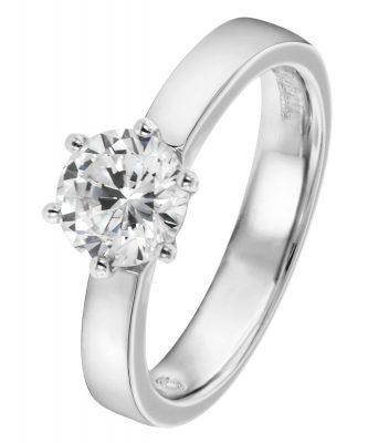 Viventy 696881 Verlobungsring Silber 925 Antragsring Zirkonia Damen-Ring