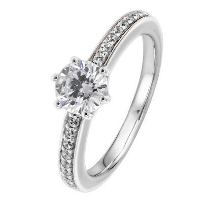 Viventy 777341 Verlobungsring Silber 925 Damen-Ring Zirkonia Antragsring