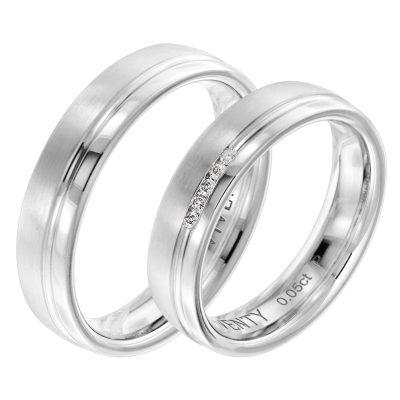 Viventy 8007 Verlobungsring Paar Silber 925 Diamant