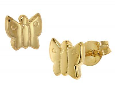 trendor 48634 Ohrringe für Kinder Gold 333 Schmetterling