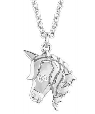 s.Oliver 2018520 Mädchen-Halskette mit Einhorn-Anhänger