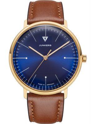 Junkers 9.07.01.01 Armbanduhr 100 Jahre Bauhaus Lederband Braun 38 mm