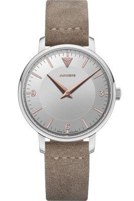 Junkers 9.01.01.07 Damen-Armbanduhr Therese Lederband Taupe / Silber