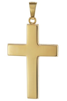 trendor 08624 Kreuz Anhänger für Männer 585 Gold 27 mm