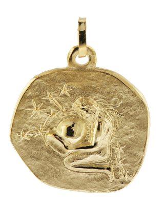 trendor 08983 Sternzeichen-Anhänger Wassermann 333 Gold 20 mm