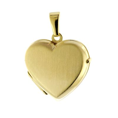 trendor 51092 Medaillon Herz Anhänger Gold 333 / 8K