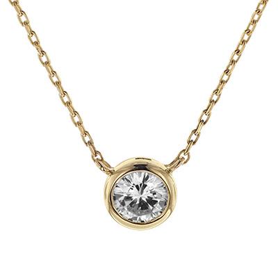 trendor 08853 Halskette mit Zirkonia Anhänger Gold 585
