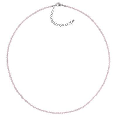 trendor 75482 Damen-Halskette Rosenquarz Ø 2,5 mm