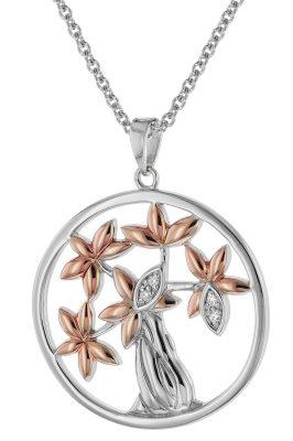 trendor 75511 Silber-Anhänger Lebensbaum + Halskette