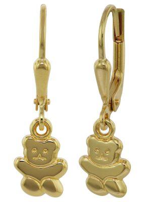 trendor 35740 Ohrringe für Mädchen Teddybär Gold 333 / 8 Karat