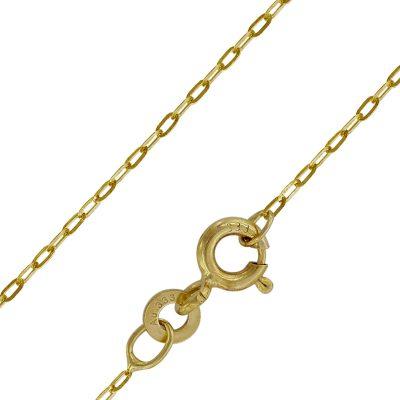 trendor 73815 Halskette für Frauen Gold 333 (8 Karat) Flachanker 1,1 mm
