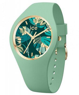 Ice-Watch 019210 Damenuhr ICE Flower M Lagune/Palme