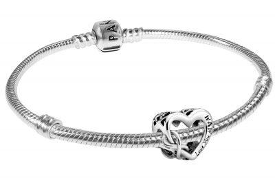 Pandora 39496 Damen-Armband Love You Mum Unendlichkeits-Herz
