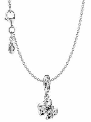 Pandora 39819 Damen-Kette Silber Brautpaar