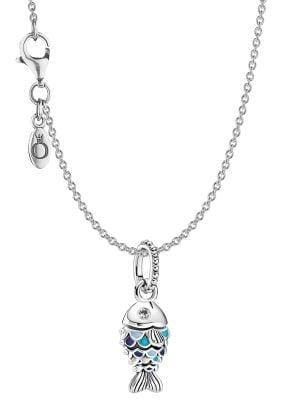 Pandora 51162 Silber Damen-Halskette Blauer Fisch