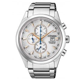 Citizen CA0650-82B Herrenuhr Chronograph Eco Drive Super Titanium