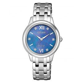 Citizen EM0720-85N Ladies' Solar Watch Eco-Drive Super Titanium