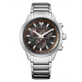 Citizen AT2470-85H Eco-Drive Herren-Chronograph Titan Anthrazit