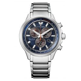 Citizen AT2470-85L Eco-Drive Herrenuhr Chronograph Titan Blau