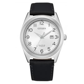 Citizen AW1640-16A Eco-Drive Men's Watch Titanium Silver Tone / Black
