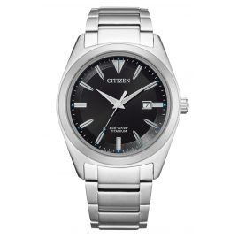 Citizen AW1640-83E Eco-Drive Herren-Armbanduhr Titan Schwarz