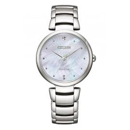 Citizen EM0850-80D Eco-Drive Ladies' Watch Solar Mother-of-Pearl