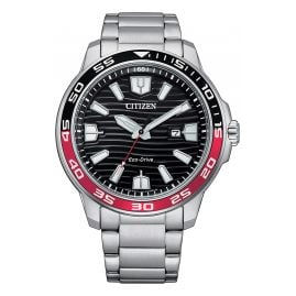 Citizen AW1527-86E Eco-Drive Solar Men's Wristwatch Black/Red