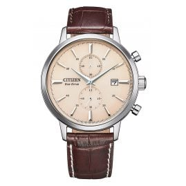 Citizen CA7061-26X Eco-Drive Solar Men's Watch Chronograph Brown/Beige