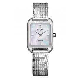 Citizen EM0491-81D Eco-Drive Solar Ladies' Watch with Mesh Bracelet