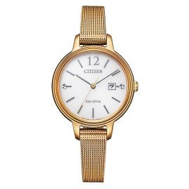 Citizen EW2447-89A Eco-Drive Solar Ladies' Watch Rose Gold Tone