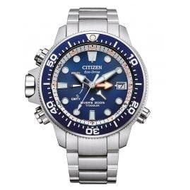 Citizen BN2041-81L Promaster Eco-Drive Diver's Watch for Men Titanium/Blue
